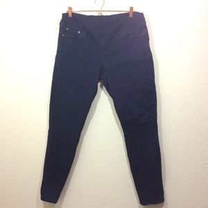 Gap Maternity Full Panel Skinny Jeans Dark Wash 14